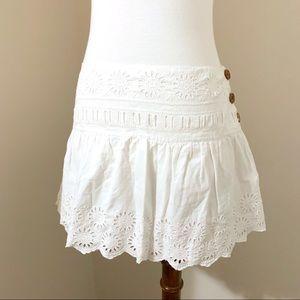 AEO | white eyelet mini skirt